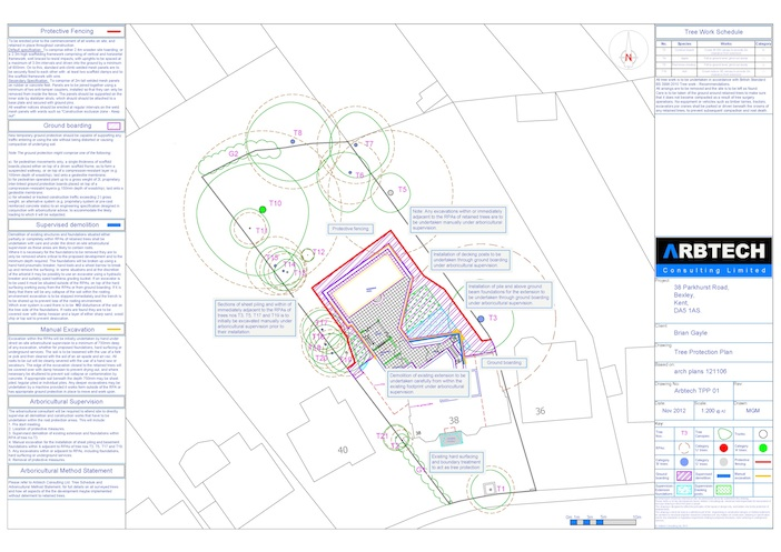 Arbtech Tree Protection Plan and Arboricultural Method Statement
