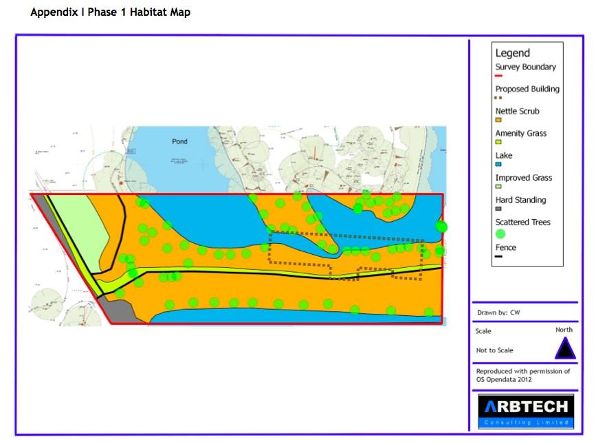 Extended Phase 1 Habitat Survey Map