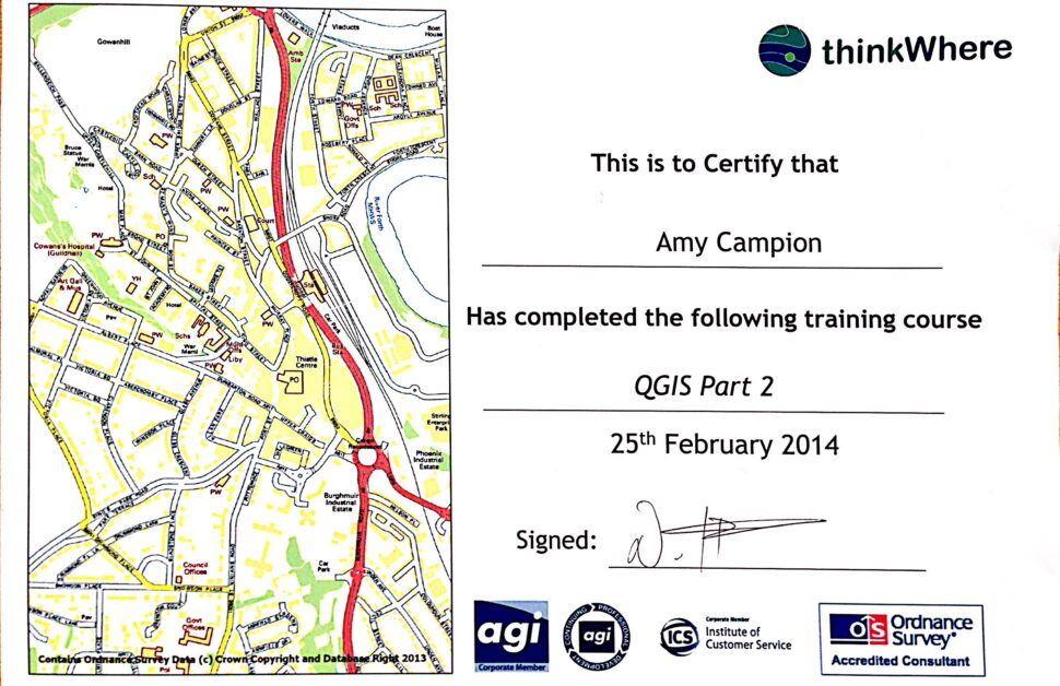 QGIS Amy Campion Certificate