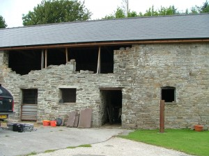 Redundant stone barn in the Brecon Beacons National Park