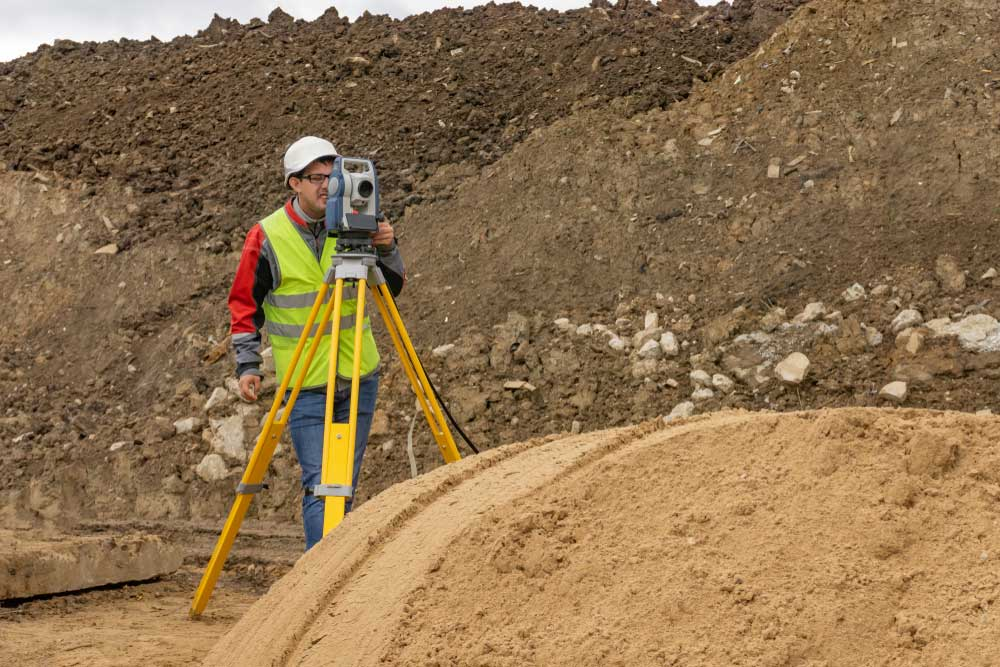 Topographic survey being carried out